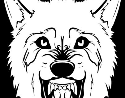 Snarling Wolf Tshirt Design (2013)