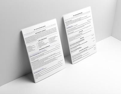 Canadian Format Resume