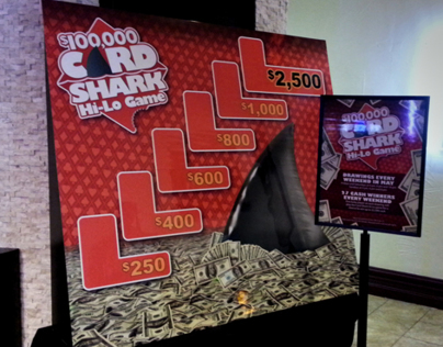 $100,000 Card Shark Hi-Lo game