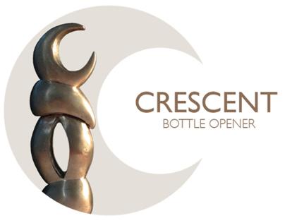 Crescent Bronze Cast Bottle Opener