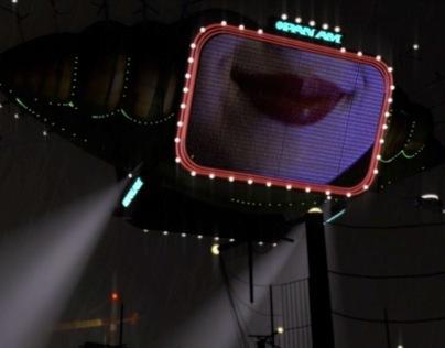 Blade Runner Blimp made in Cinema 4D