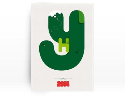 HNY // Postal de Navidad
