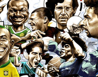 World Cup caricatures