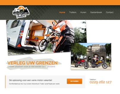 Website design for Adventure Trailers