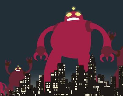 DAMN! ROBOTS! (flyers)