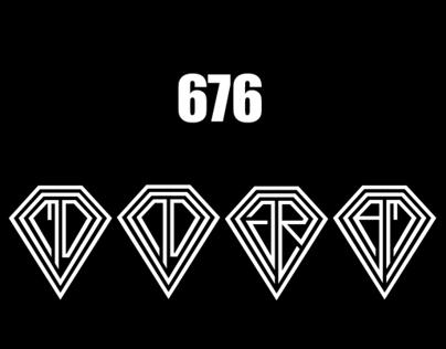 676 Different Monogram, Logo D ( DIAMOND )