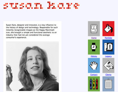 History: Website About Susan Kare