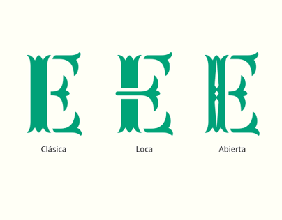 Wilson, a stencil typeface in 3 versions
