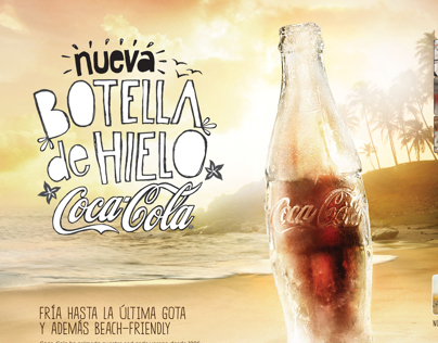 THE REAL ICE COLD COCA-COLA BOTTLE