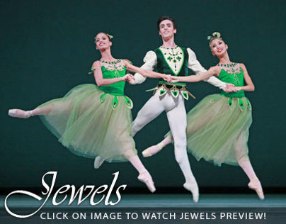 Video box for Houston Ballet's Jewels.