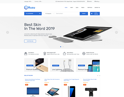 Rusu - Electronics eCommerce HTML Template