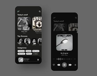 Dark Music Player Concept