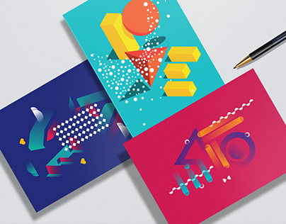 A week of Love / Typography / Greeting Card