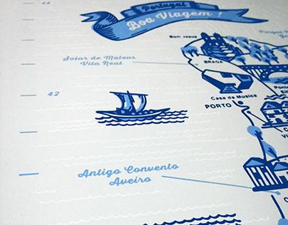"Carte de voyage ""Portugal"" - format : nomade ou poster"