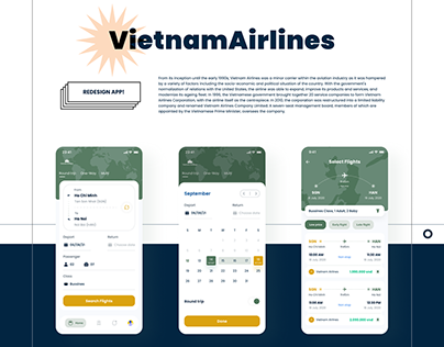 VietnamAirlines Booking Flight FREE KIT - UI/UX
