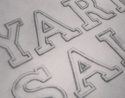 """Yard Sale"" - Lettering project"