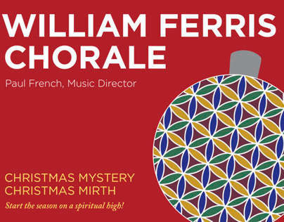 William Ferris Chorale postcards and posters 2013-2014