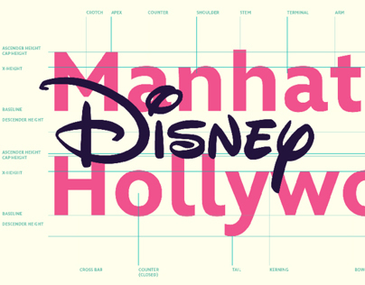 Disney Typefaces