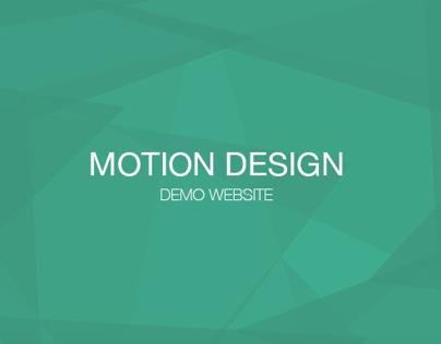 MOTION DESIGN - Website Demo