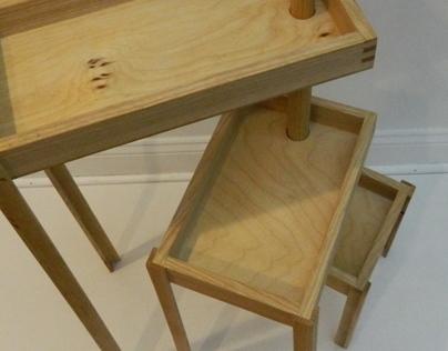 Modular ash wood table