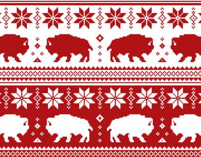New Year Zubr Pattern