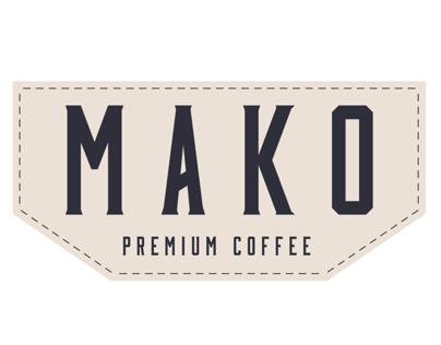 Mako Coffee branding and packaging