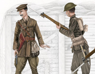 WW1 Trench Illustration (military illustration)