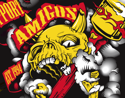 Amigos Support Tee 2012 - Custom graphic for MC Club on ...