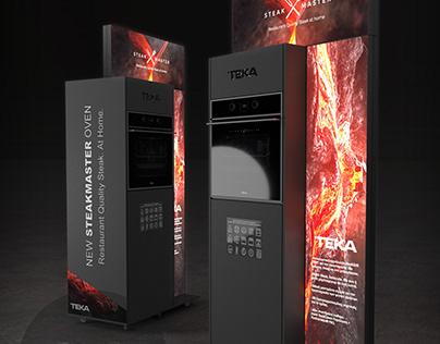 Oven promo stand design