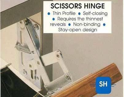 Scissors hinge design