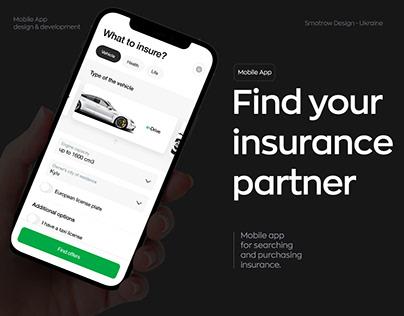 Find your insurance partner | Mobile App Case Study