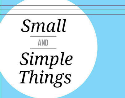 Small and Simple Things Booklet