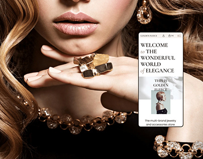 Golden Fleece - a concept for a jewelry e-commerce