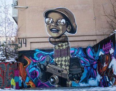 graffiti by Tigrohaud crew