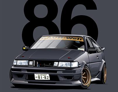 """""""Real of the World"""" TOYOTA COROLLA AE86 by Nojima"""