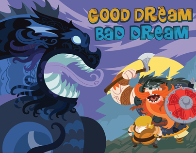 "Illustrated Fantasy story book ""GOOD DREAM, BAD DREAM"""