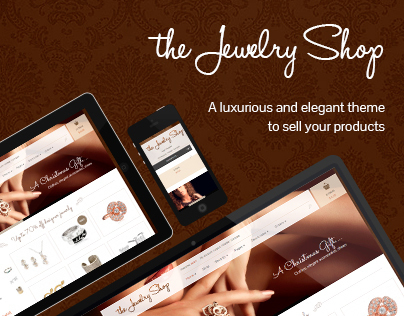 THE JEWELRY SHOP – A LUXURIOUS AND ELEGANT THEME TO SEL