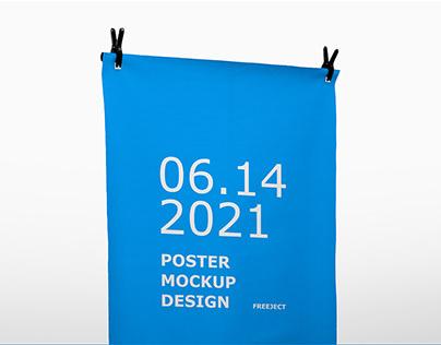 Free Download Clasp Poster Mockups Design