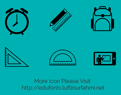Edufonts - Webfont Icon - Scalable Vector