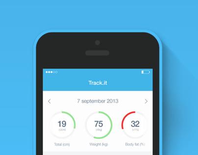 Bodytrack.it - An iOs app - Branding, UX and UI