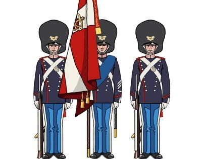Designs for toy soldiers.