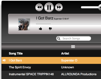 Chrome Music Player App