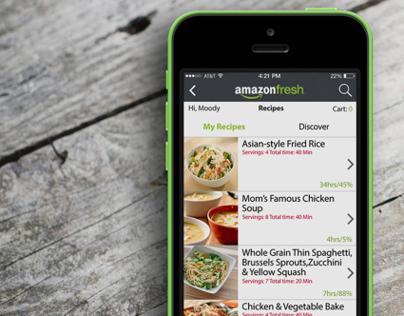 Amazon Fresh iOS Re-design [ Concept ]