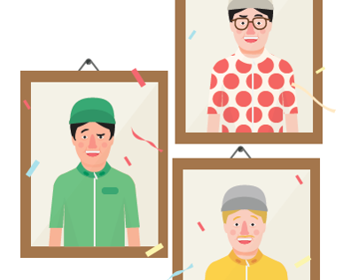 Tour De France - Illustrate for Human ride Magazine