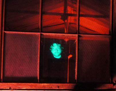 Hologram at the Experimental Radiation Lab display