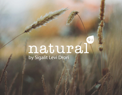 Natural4u branding and website