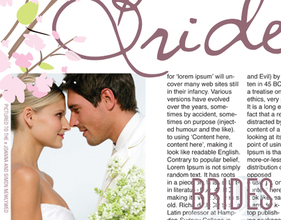 Brides Page Layout