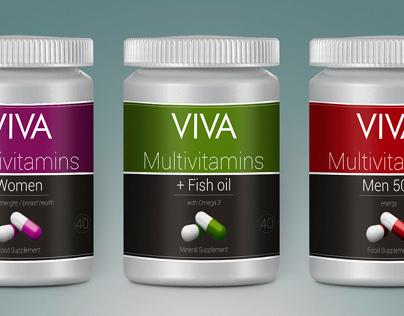 Conceptual design of Multivitamins label