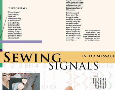 Sewing Signals into a Message