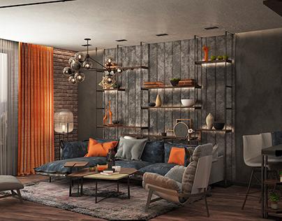 КИЕВ ЖК Skyline Studio apartment in loft style